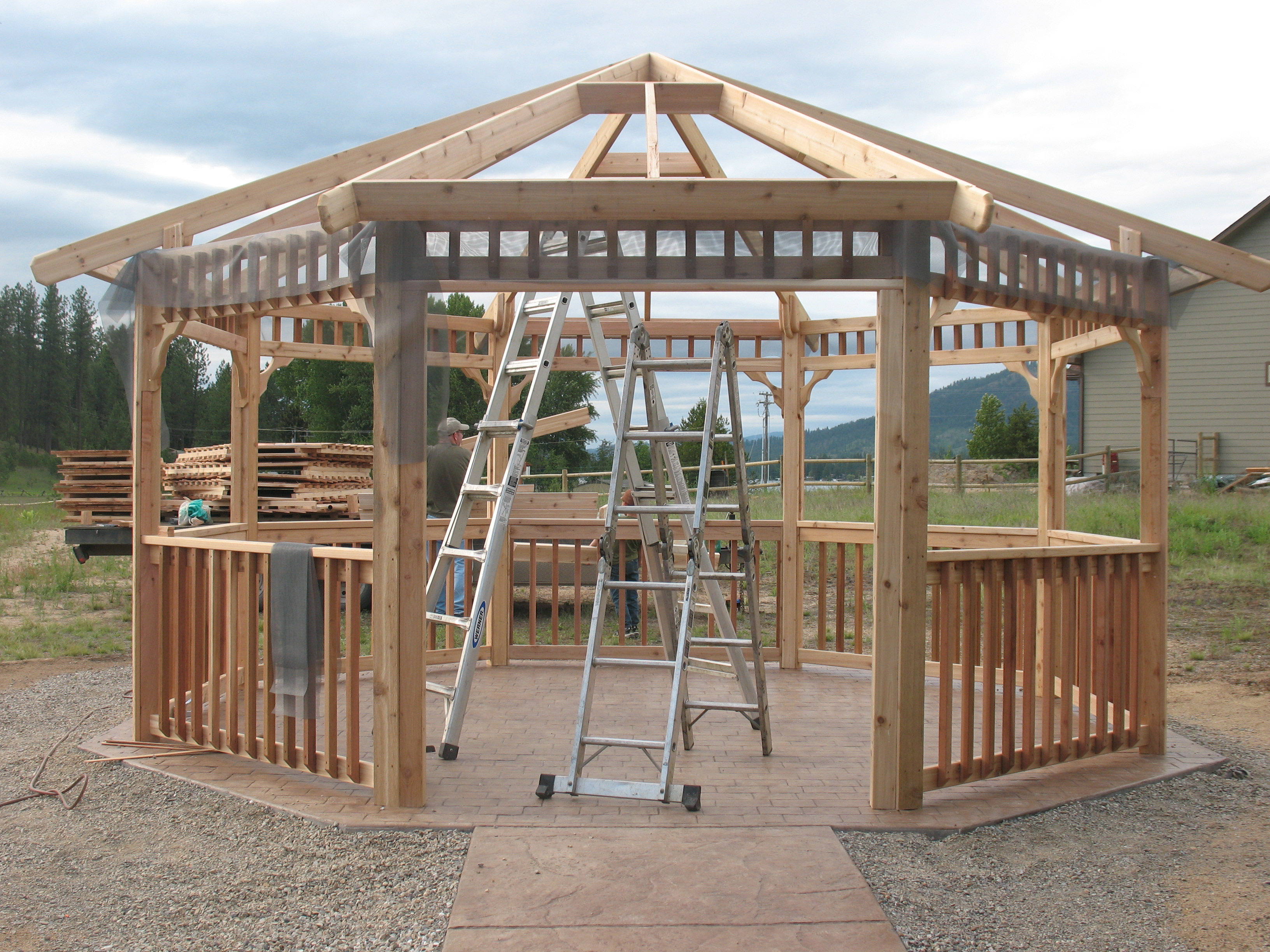 Hexagon cedar gazebo kit 8ft w86 -